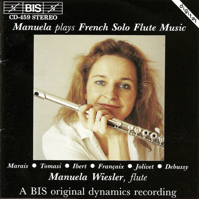 Marais / Francaix / Tomasi: Solo Flute Music Albumcover