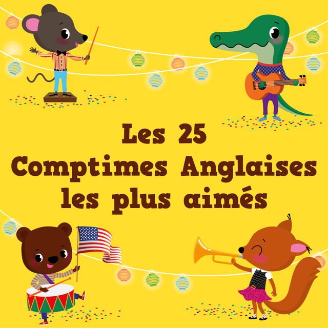 Album cover for Les 25 comptimes Anglaises les plus aimés by The Countdown Kids