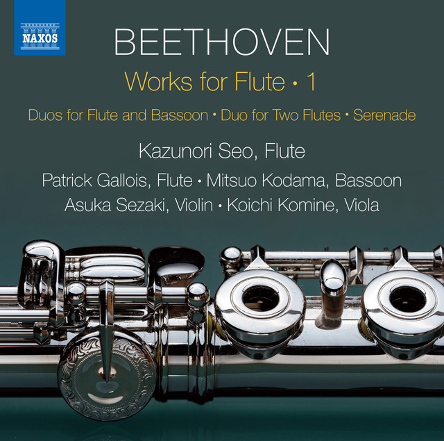 Album cover for Beethoven: Works for Flute, Vol. 1 by Ludwig van Beethoven, Kazunori Seo