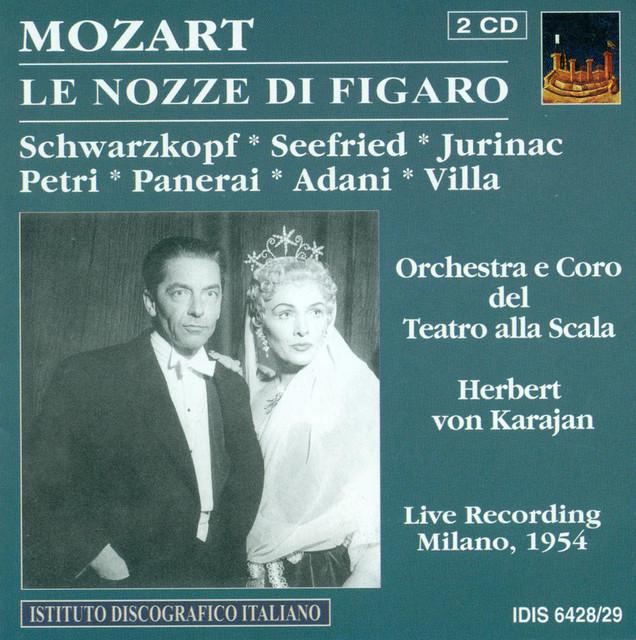 Mozart, W.A.: Marriage of Figaro (The) [Opera] (Karajan) (1954) Albumcover