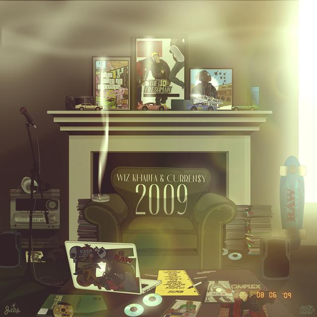 Album cover for 2009 by Wiz Khalifa, Curren$y