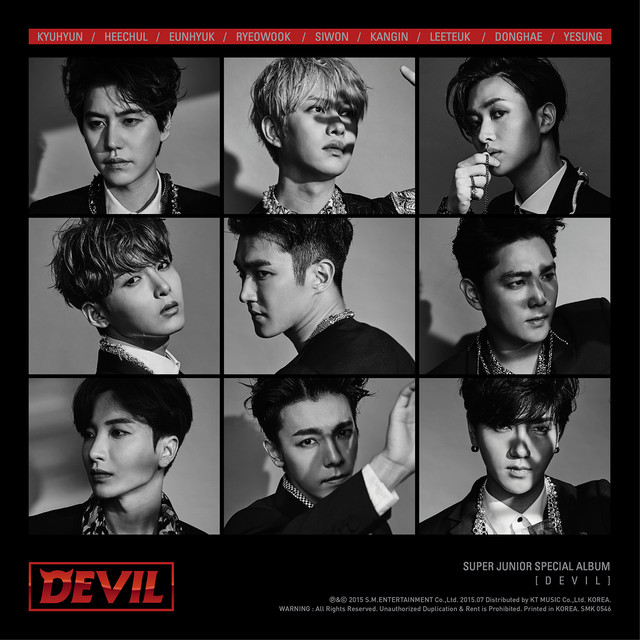 DEVIL - SUPER JUNIOR SPECIAL ALBUM Albumcover