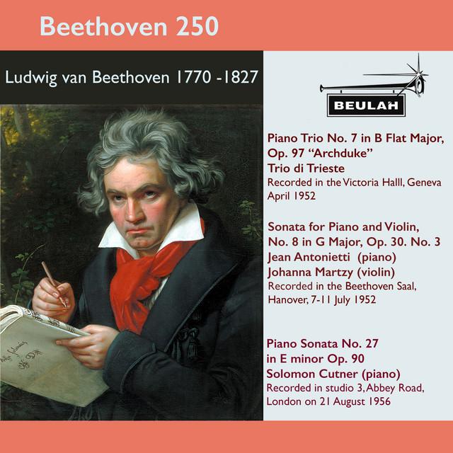 Beethoven 250 Archduke Piano Trio, Violin Sonata No. 8, Piano Sonata No. 27