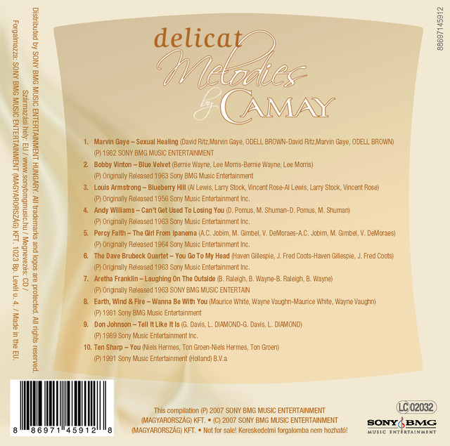 Various Artists Delicat Melodies - Camay album cover