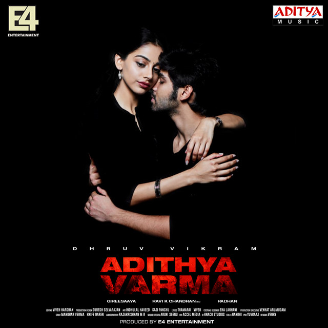 Album cover for Adithya Varma by Radhan