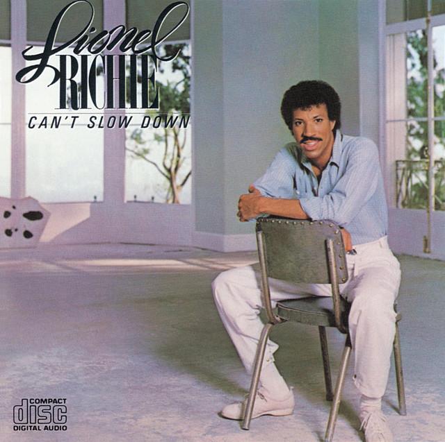 Lionel Richie Can't Slow Down album cover