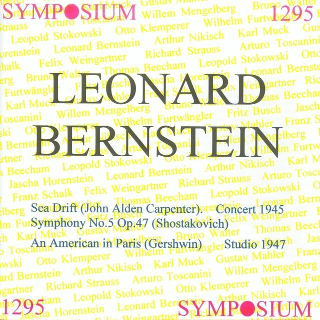 Leonard Bernstein (1945-1947) Albumcover