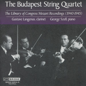 The Budapest String Quartet: Mozart Recital Albumcover
