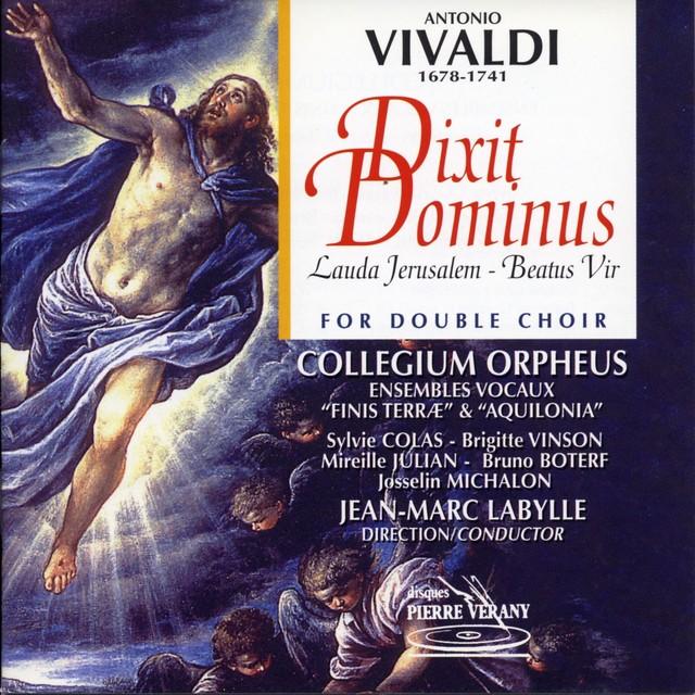 Vivaldi : Dixit dominus Lauda Jerusalem Beatus vir Albumcover