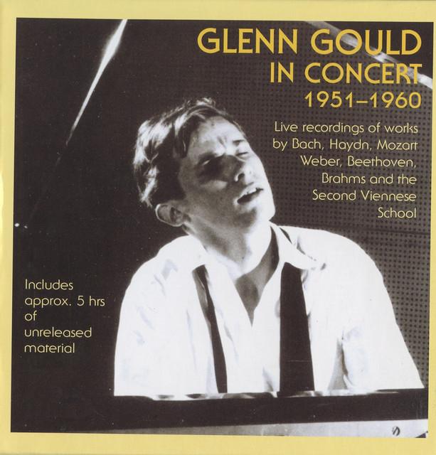 Glenn Gould in Concert (1951-1960) Albumcover