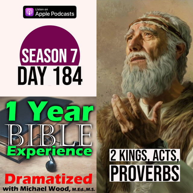 Audio Bible Day 184 | Elisha makes a dark prophecy about