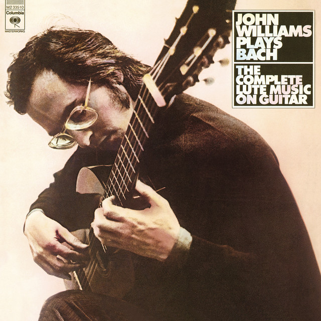 John Williams Plays Bach: The Complete Lute Music on Guitar Albumcover