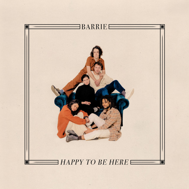 Album cover for Happy to Be Here by Barrie
