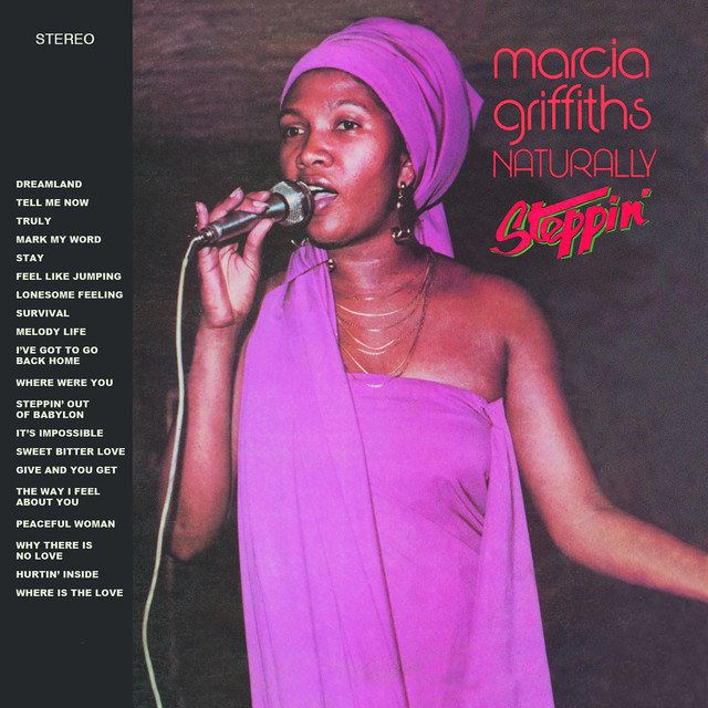 Album cover for Naturally / Steppin' by Marcia Griffiths