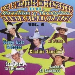Los 5 Mejores Interpretes de Corridos y Tragedia Banda Sinaloenses Albumcover