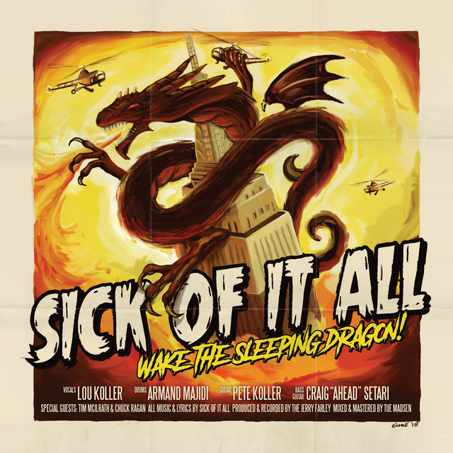 Album cover for Wake The Sleeping Dragon! by Sick Of It All