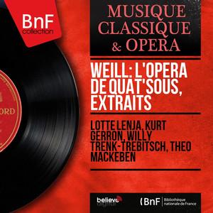 Weill: L'opéra de quat'sous, extraits (Mono Version) album
