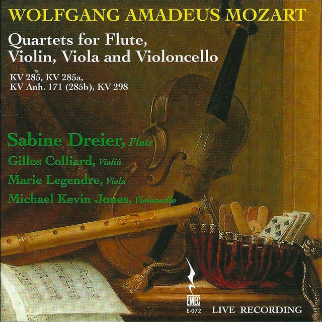 Mozart: Quartets for Flute, Violin and Viola (Live) Albumcover