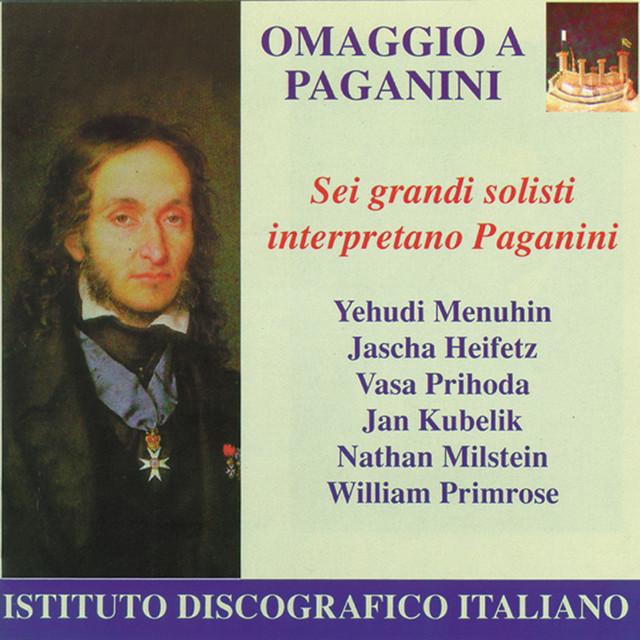 Paganini, N.: Violin Music (Heifetz, Kubelik, Menuhin, Milstein, Prihoda, Primrose) (1918-1938) Albumcover