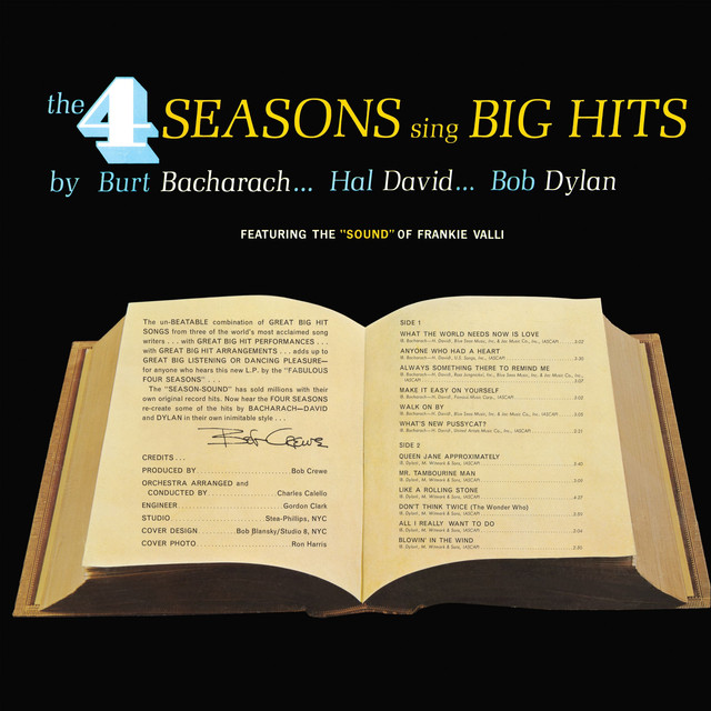Sing Big hits by Burt Bacharach...Hal David...Bob Dylan