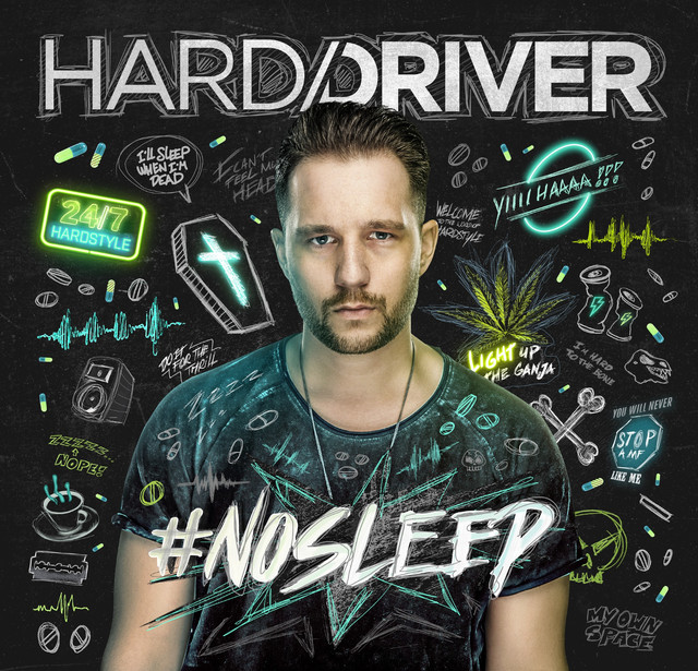 Album cover for #NOSLEEP by Hard Driver