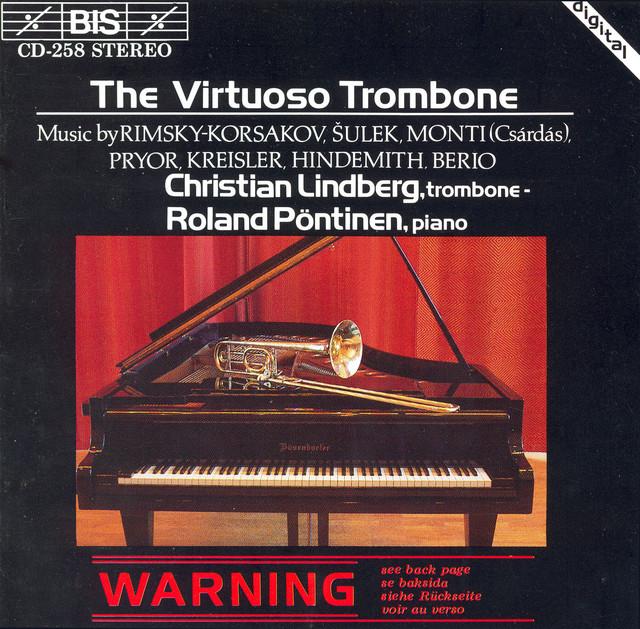 Lindberg, Christian: Virtuoso Trombone (The) Albumcover