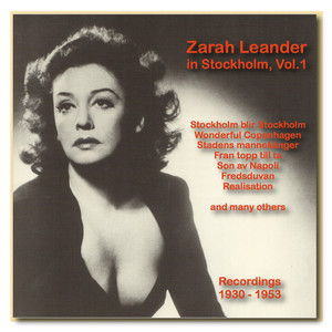 Icons of German Cinema: Zarah Leander in Stockholm, Vol. 1 (1930-1953) album