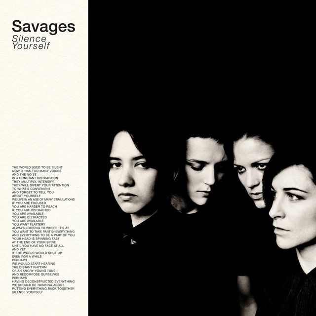 Album cover for Silence Yourself by Savages