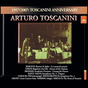 Toscanini conducts Berlioz, Verdi, Brahms, Strauss, Saint-Saëns, Grofé Albumcover