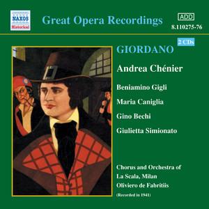 Giordano: Andrea Chenier (Gigli, Caniglia) (1931) Albumcover