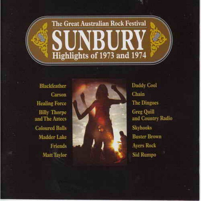 Various Artists Sunbury - Highlights of 1973 and 1974 album cover