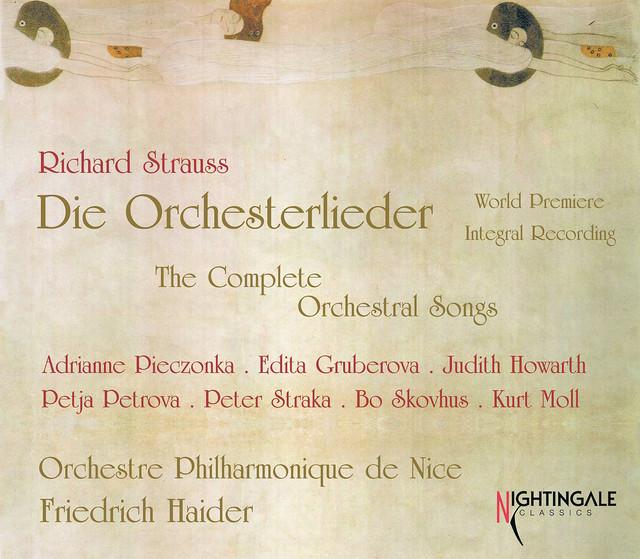 Richard Strauss: Die Orchesterlieder (World Premier Integral Recording) Albumcover