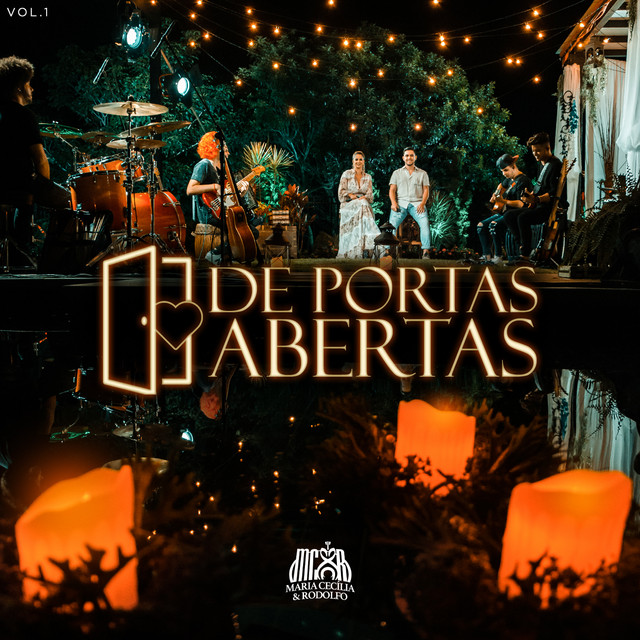 Album cover for De Portas Abertas, Vol. 1 (Ao Vivo) by Maria Cecília & Rodolfo
