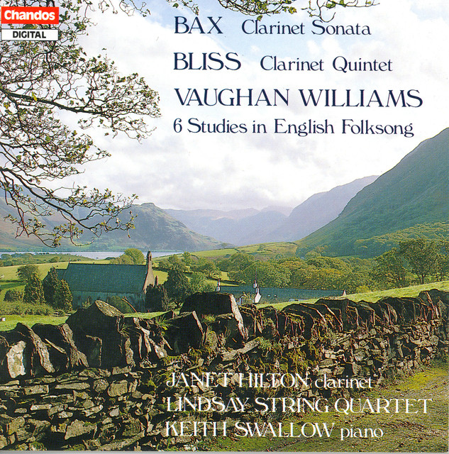 Bax: Clarinet Sonata / Bliss: Clarinet Quintet / Vaughan Williams: 6 Studies in English Folksong Albumcover