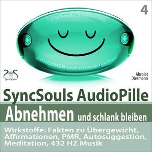 Abnehmen und schlank bleiben - SyncSouls AudioPille: Fakten zu Übergewicht, Affirmationen, PMR, Autosuggestion, Reflexion, 432 Hz Musik Audiobook