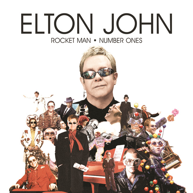 Elton John Rocket Man: Number Ones album cover