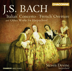 """Bach: """"Italian"""" Concerto, """"French"""" Overture & Other Works for Harpsichord album"""