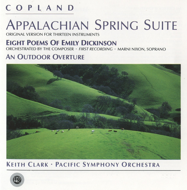 Copland: An Outdoor Overture, Appalachian Spring & 8 Poems of Emily Dickinson Albumcover