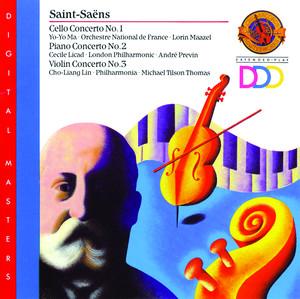 Saint-Saëns: Cello Concerto No. 1; Piano Concerto No. 2; Violin Concerto No. 3 Albumcover