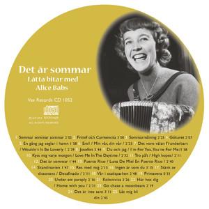 Vi minns Alice Babs 1924-2014: Det är sommar. Lätta bitar med Alice Babs album