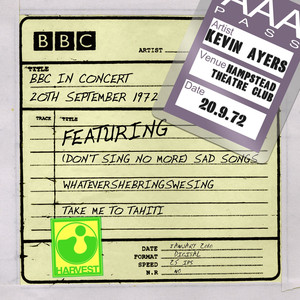 BBC In Concert [Hampstead Theatre Club, 20th September 1972]