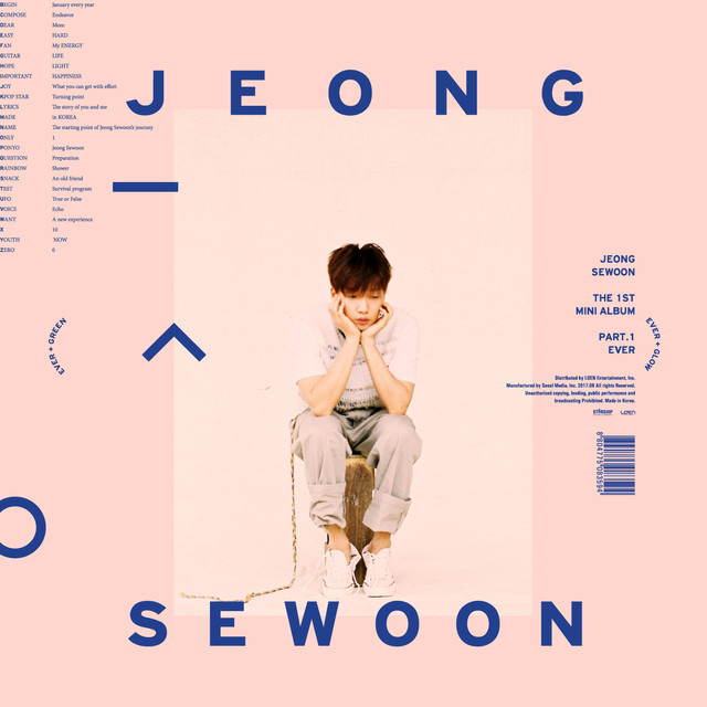 Album cover for THE 1ST MINI ALBUM PART.1 [EVER] by JEONG SEWOON