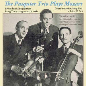 The Pasquier Trio Plays Mozart Albumcover