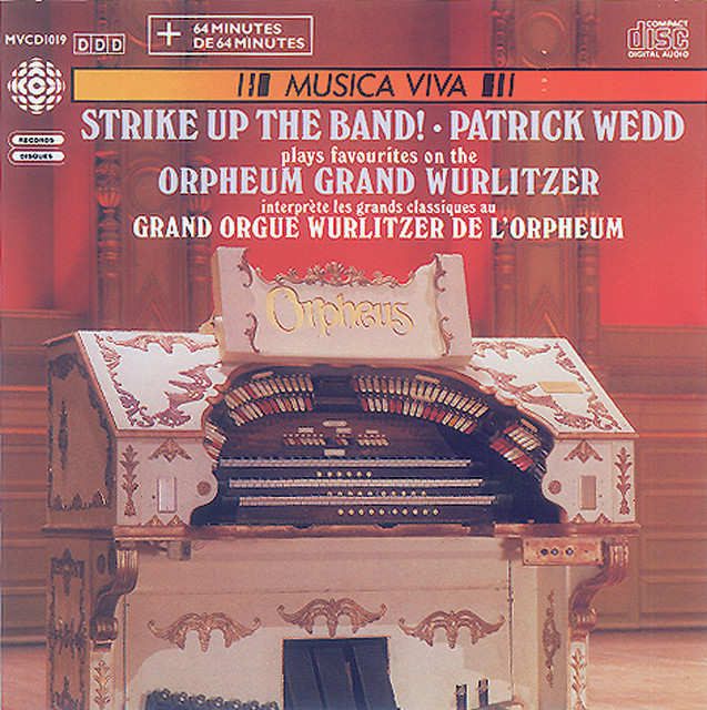 Organ Favorites On Vancouver's Orpheum Grand Wurlitzer Albumcover