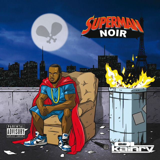 Album cover for Superman noir by Ol Kainry