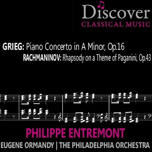 Grieg: Piano Concerto in A Minor, Op. 16; Rachmaninov: Rhapsody on a Theme of Paganini, Op. 43 Albumcover