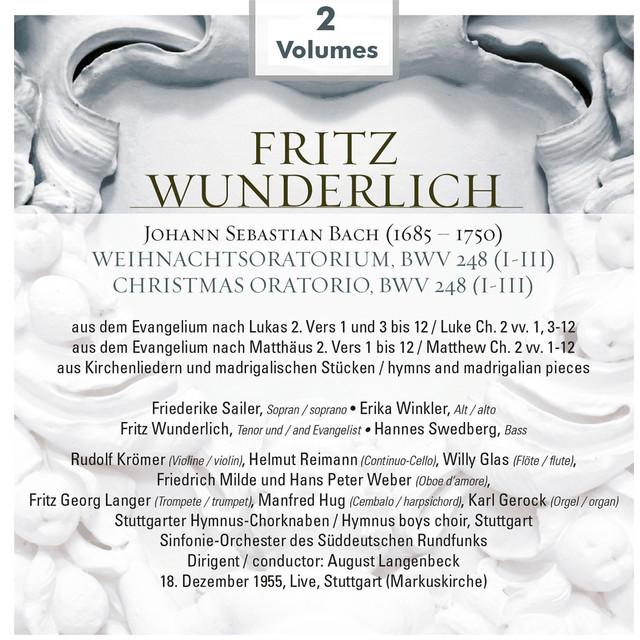 Bach: Christmas Oratorio (1955) Albumcover