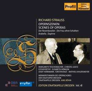 Strauss, R.: Arabella / Der Rosenkavalier / Die Frau Ohne Schatten / Daphne (Excerpts) (Staatskapelle Dresden Edition, Vol. 18) Albumcover