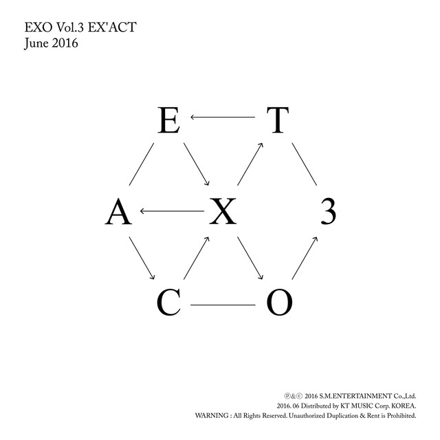 Album cover for EX'ACT - The 3rd Album by EXO