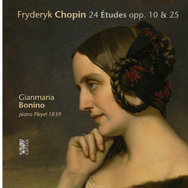 Album cover for Chopin: 24 Études Opp. 10 & 25 by Frédéric Chopin, Gianmaria Bonino